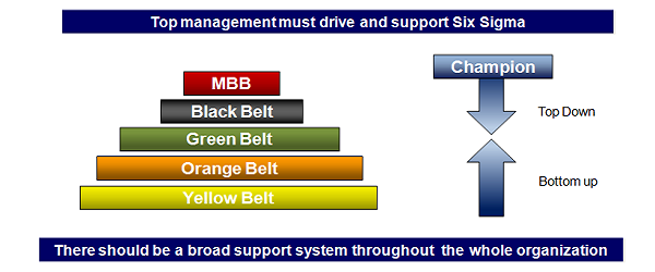 Six Sigma belt levels